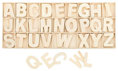 Kleenes Traumhandel Lettere in Legno Naturale, Altezza 5,4 cm, 4 Lettere in Legno, 104 Pezzi