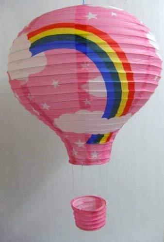 Rainbow Lampe de Plafond Montgolfière (Lanterne-Abat-jour en Papier-Rose