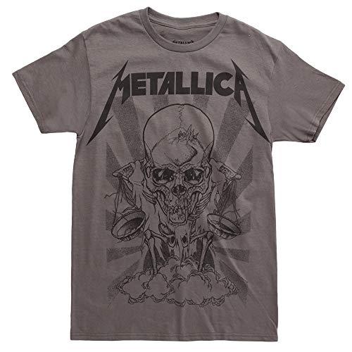 Metallica Pushead Boris T-Shirt - Charcoal (Large)