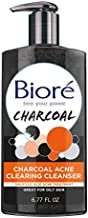 Bioré Charcoal Acne Clearing Face Wash, 1 Percent Salicylic Acid Acne Treatment, Helps Prevent Breakouts, Oil Absorption and Control for Acne Prone, Oily Skin, 6.77 Ounce