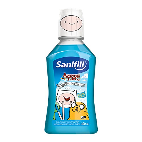 Enxaguatório Bucal Adventure Time Sabor Tutti Frutti 300 ml, Sanifill