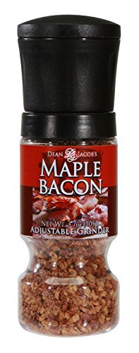 Dean Jacob's Maple Bacon Spices in a 3.7 oz. Gripper Grinder