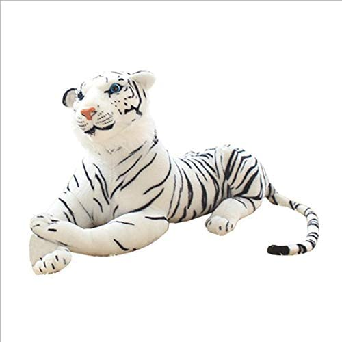 YYHSND Simulation Tier Weißer Tiger Plüsch Puppe Zoo Modell Spielzeug Wildtier Kissen Bengal Tiger, Schwarz+ Weiß, 40cm, 60cm, 120cm Plüschtier (Farbe   120cm)