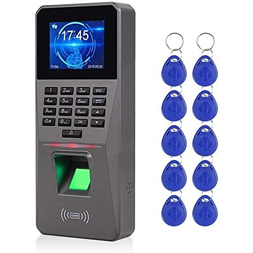 SISHUINIANHUA 2.4 Pulgadas TCP/IP/USB BIOMÉRICO RFID Teclado DE Teclado DE PERSÍO DE TECLO DE TIRITA DE TIEMPA DE Tiempo Tiempo ELECTRÓNICO Máquina de Asistencia al Reloj