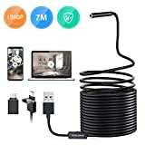 Teslong Endoscope for Android, 23ft Cable 2MP HD Borescope Inspection Camera with 6 Adjustable LED Lights, (2-in-1) Waterproof Snake Sewer Camera for Android, Windows & MacBook Device …