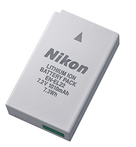 Nikon EN-EL22 - Batería/Pila Recargable (Cámara Digital, Iones de Litio, Color Blanco)