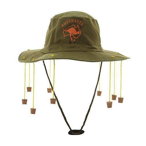 Partypackage Ltd Australien Chapeau avec Bouchons de liège Chapeau pour Australie Crocodile Dundee Chapeau Déguisement
