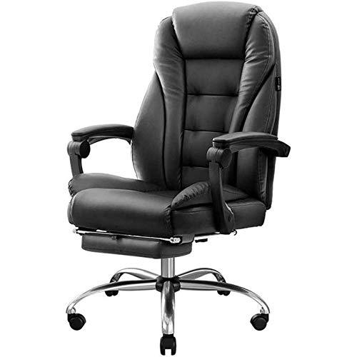 ZXNRTU Relájese cómodamente seguro Sillas y taburetes de videojuegos Sillas de oficina for el hogar, silla ergonómica ejecutiva del ordenador, 360 ° Silla giratoria con enclavamiento apoyabrazos, altu