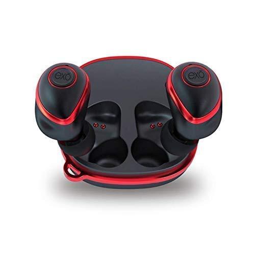 EXO Audio Wireless Earbud Headphones (Soundbuds V3, Red)