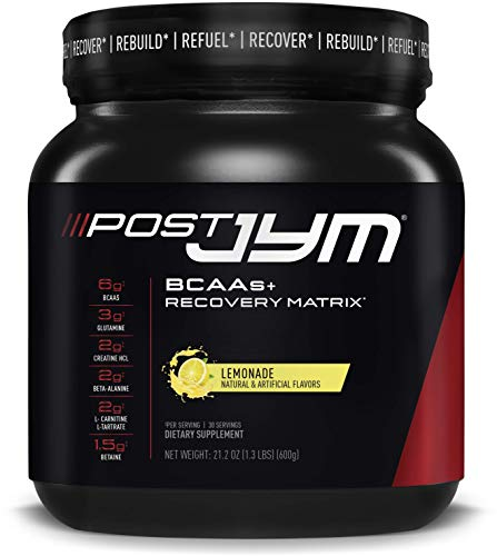 JYM Supplement Science Post Active Matrix, Glutamine, Creatine HCL Beta-Alanine, Lemonade Flavor, 1.3 Pound (30 Servings)