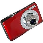 Kompakte Digitalkamera, STOGA Digitalkamera DC-V100 Kompakte Mini-Digitalkamera 5 x Digitalzoom 8 x 2,7 Zoll Kompakte HD-Digital-TFT-LCD-Kamera (Rot)