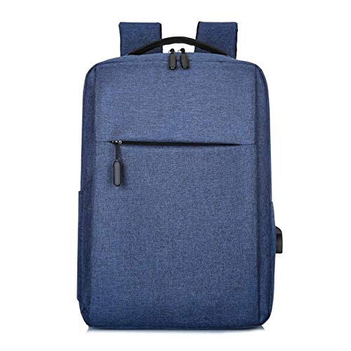 Yi-xir fashion design New Laptop Usb Backpack School Bag Rucksack Anti Theft Men Travel Daypacks Male leisure Backpack Lightweight and durable (Color : Blue)