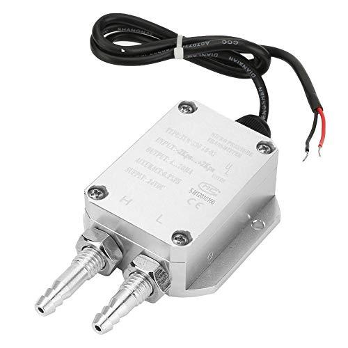 Transmisor de presión DC24V, transmisor de diferencia duradero, alta precisión para caldera, aspiradora, colector de polvo, sala limpia(-2Kpa~+2Kpa)