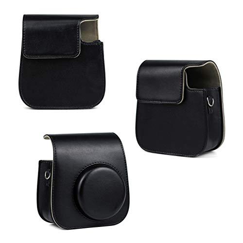 Xrten Kamera Schutzhülle mit Schulterriemen und Tasche für Fujifilm Instax Mini 11 Sofortbildkamera(schwarz)