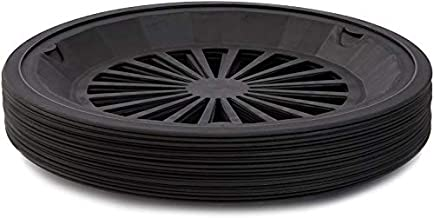 Juvale Reusable Plastic Holders for Paper Plates (Set of 20, Black, 10 in.)