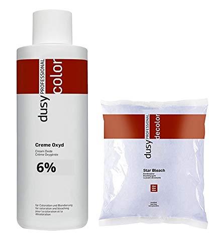 Dusy Star Bleach Blondierpulver 500g im Beutel + Dusy Professional Creme Oxyd 1000ml (6%)
