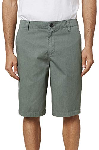 O'NEILL Men's Standard Fit Chino Walk Short, 22 Inch Outseam (Washed Ivy Heather/Redwood, 44)
