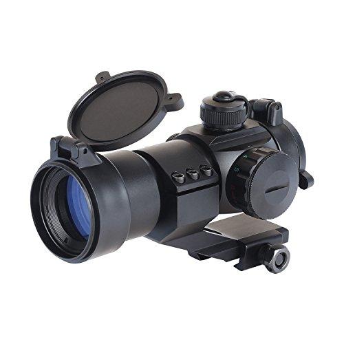ESSLNB Airsoft Viseur point rouge 5 Paramètres de luminosité Rouge et Vert Point Rouge Chasse Tactique Lunette de tir avec 20mm Tisserand / Picatinny Rail Monter pour la chasse