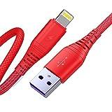 CABEPOW Lot de 3 câbles de chargement pour iPhone 3 m de long et 3 m de long, câble de chargement...