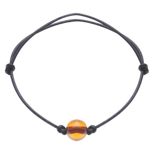 InCollections Unisex-Armband mit Bernstein Länge verstellbar 0010411901570