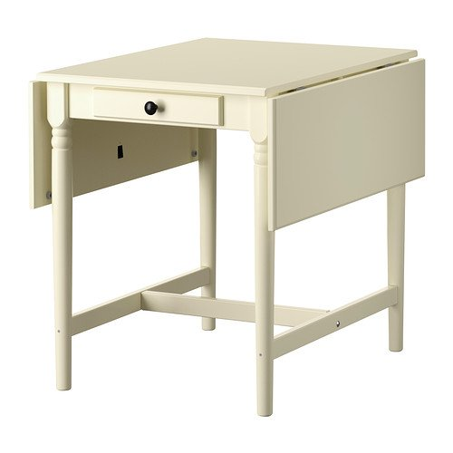Ikea INGATORP Klapptisch, weiß, 59/88/117 x 78 cm