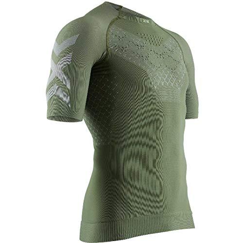 X-Bionic® TWYCE 4.0 SH SL E102 T-shirt de course pour homme Vert olive/gris Dolomite Taille XXL
