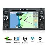 Autoradio Android 9.0 stéréo pour Ford C-Max/Connect/Fiesta/Focus/Fusion/Galaxy/Kuga S-Max/Transit/Mondeo Schwarz Voiture GPS Navigation 4G | Caméra & Canbus arrière GRATUITES | 2 DIN 7 Inch 2G+32G |