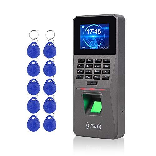 Dongyang 2,4zoll USB/TCP/IP/RS485 RFID Biometrische Fingerprint Reader Türschloss DIY Zeiterfassung + 10stücke 125 kHz ID Blau Schlüsselanhänger