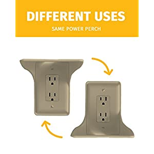 Power Perch - 1pack (almond) - The Ultimate Outlet Shelf For Your Home - No Additional Hardware Required with Damage Free Installation - As Seen On The Today Show by STORAGE THEORY