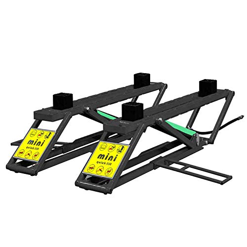 XK Mini Portable Scissor Car Lift 6200 lb Capacity 110 Volt