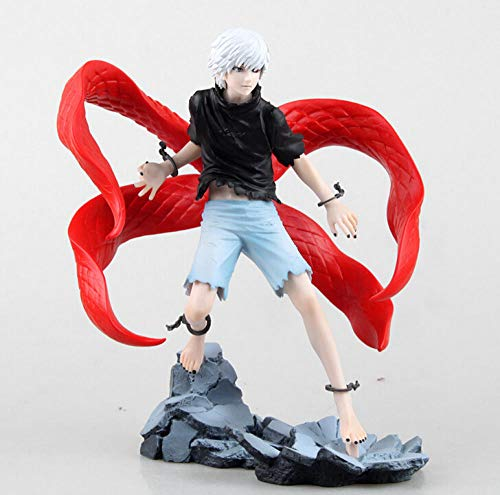 Puppet Model 22Cm Tokyo Ghoul Kaneki Ken Action Figures PVC Collection Figures Toys for Gift Cute Home Decoration,Collectible Model Anime for Kids Boys Girls
