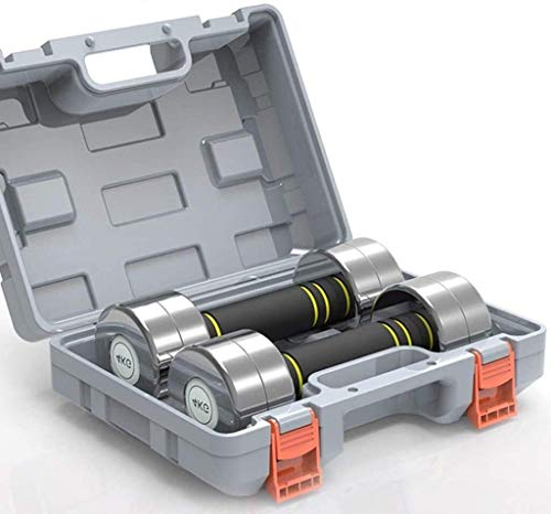 MISLD Verstellbare Hanteln Set Tragbare Übung Trainingshanteln Set for Kombi Barbell Fitness Body Building mit Toolbox trainieren (Color : 12kg)