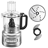 KitchenAid KFP0718CU 7 Cup Food Processor, Contour Silver