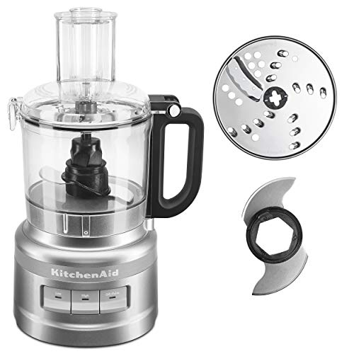 KitchenAid KFP0718CU Food Processor, 7 Cup, Contour Silver