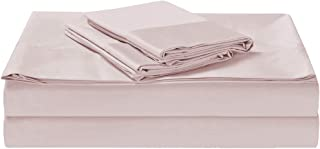 1500TC Cotton Rich 4 Pieces King Bed Sheet Set, Flat Sheet, Fitted Sheet & 2 Pillowcases Iris Pink