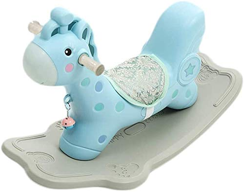 Rocking horse GCX juguete engrosamiento de plástico grande con música bebé bebé un año de edad...