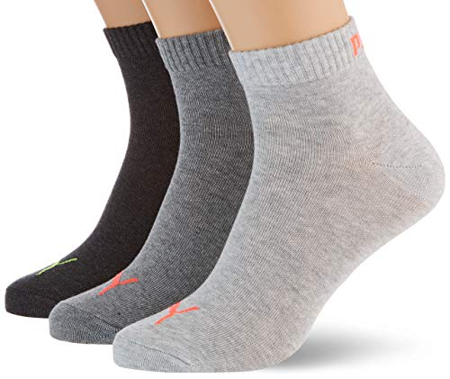 PUMA Unisex Quarter Plain Socks (3 Pack)