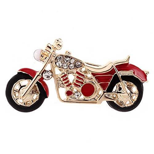 Geniales Broches De Motocicleta Para Niños, Regalo Para Niños, Insignia De Esmalte Rojo, Bisutería, Colgante De Mochila, Modelo, Broches De Coches