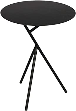 Round Side Table Bar Table, Single Layer Iron Small Metal End Side Tables Small Apartment Bedroom Bedside Table Living Room C