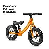 GSDZN - Draisienne, Vélo sans Pédales, Pneumatique Pneu, Poids Ultra Léger, De 10 Pouces Version Compétition Professionnelle,2-6 Ans,Orange