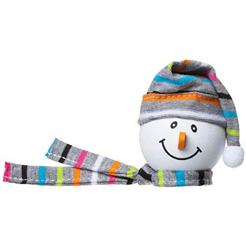 Tenna Tops Snowman Winter Hat & Scarf Car Antenna Topper/Auto Mirror Dangler/Desktop Bobble Buddy (Grey)