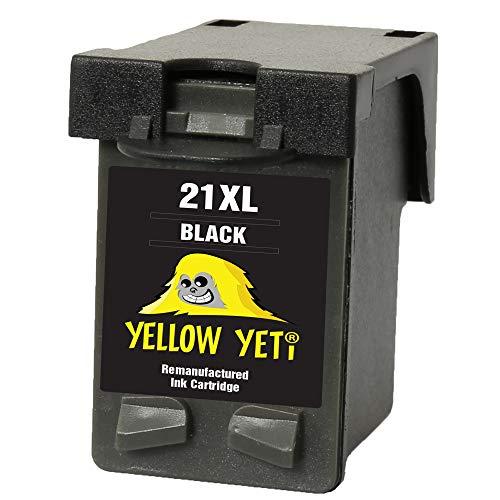 Yellow Yeti Remanufacturado 21XL 21 XL Cartucho de Tinta Negro para HP Deskjet F2120 F2180 F2280 F335 F375 F380 F390 F4180 F4190 3940 D1460 D1530 D2360 D2460 Officejet 4315 4355 PSC 1410 1415