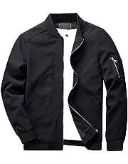 KEFITEVD ライトジャケット メンズ ミリタリージャケット カジュアル ジャンパー スリム ブルゾン バイク用 スタジャン 薄手 アウター
