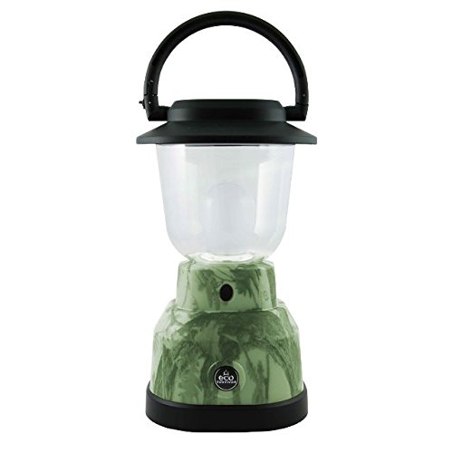 EcoSurvivor Portable LED Lantern, Green Camouflage Finish, Bright White 500 Lumens, Durable, Rugged, Dust/Water Resistant, Ideal for Outdoors, Camping, Hurricane, Storm, Tornado, Emergency, 39881