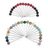 joyMerit 40 Piezas Alfileres de Costura 55mm Alfileres de Cabeza de Bola de Diamantes de Imitación de Cristal para Componentes de Joyería de Confección Decorac