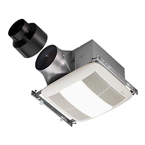 NuTone XN80L Ultra X1 Single-Speed Series Ventilation Fan with 36-Watt Fluorescent Bulb and 4-Watt Night Bulb
