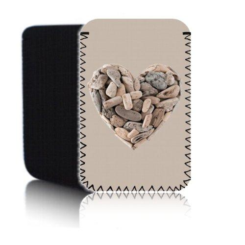 Biz-E-Bee Exklusiv 'Holz Herz' (7HD) Schutz Neopren Tasche für Xiaomi Mi Pad 2–Stoßfest und wasserabweisend Abdeckung, Hülle, Tasche,–Schnell Schiff UK