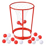 ArtCreativity Head Hoop Basketball Party Game for Kids and Adults - Adjustable Basket Net Headband with 20 Balls - Fun Gift Idea, Birthday Activity, Carnival Ball Game for Boys and Girls