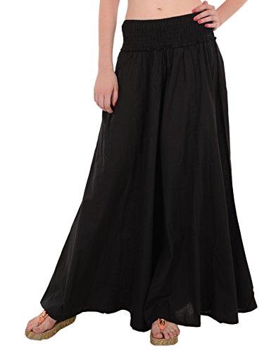 SNS Pure Cotton Long Palazzo Pants Women Trouser Black