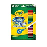 Crayola Super Tips Markers, Washable Markers, 20 Count